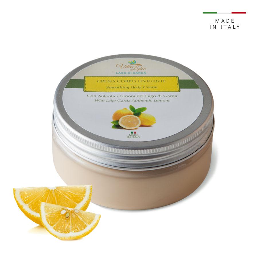 vitalake - cosmetica naturale - linea limone della riviera: crema corpo levigante