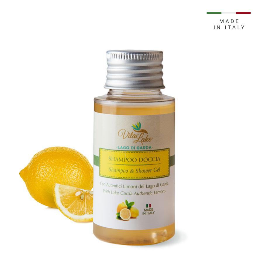 vitalake - cosmetica naturale - linea limone della riviera: shampoo doccia 50 ml