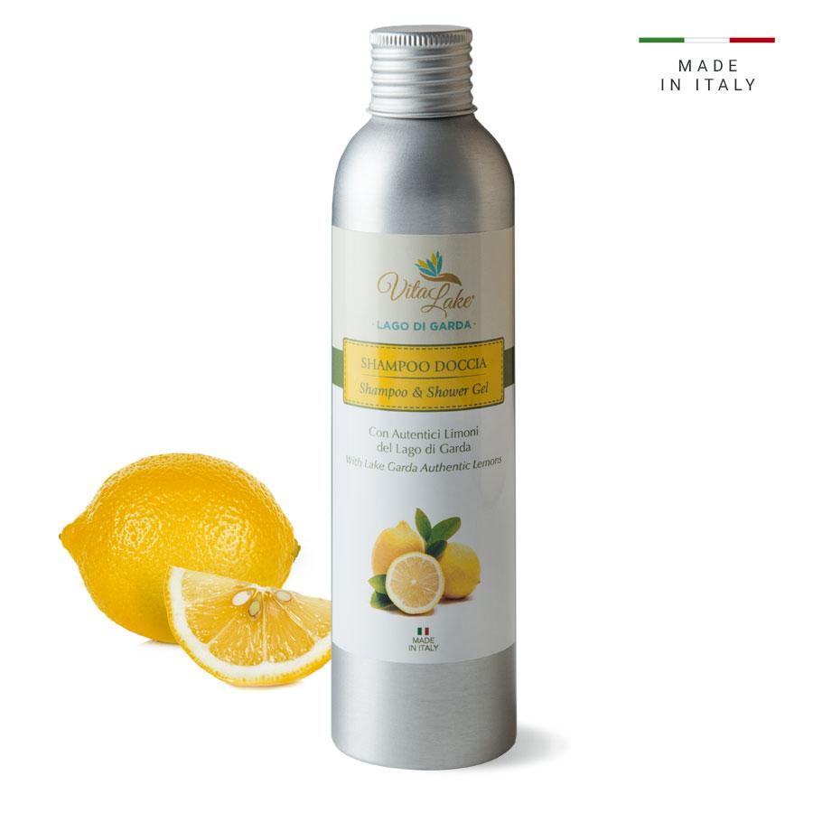 vitalake - cosmetica naturale - linea limone della riviera: shampoo doccia
