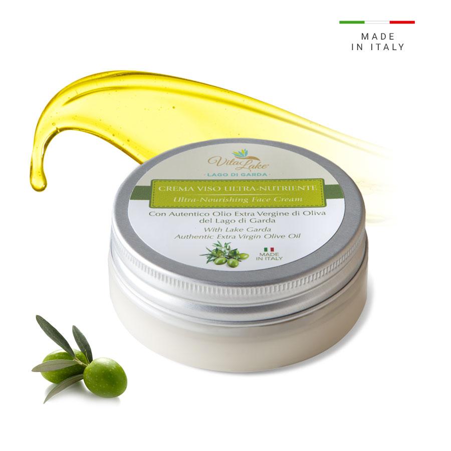vitalake - cosmetica naturale - lineaolio d'oliva evo:crema viso