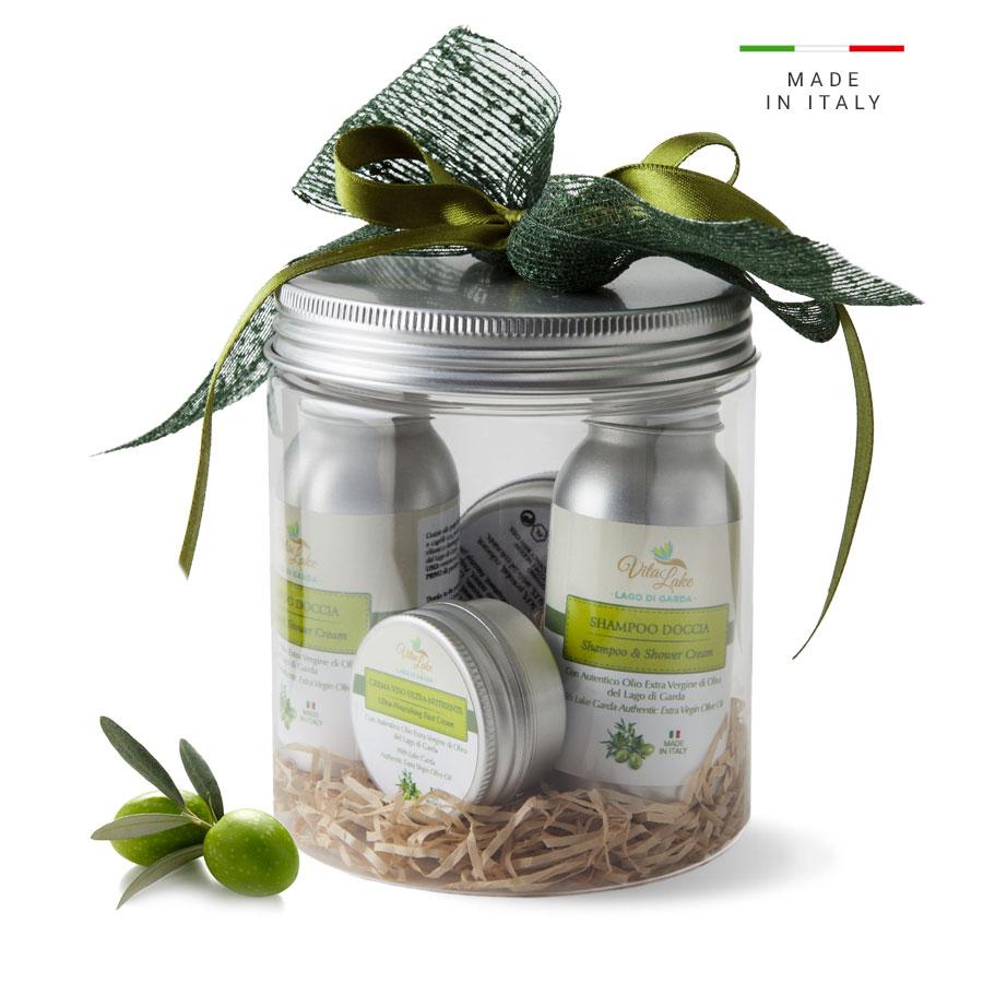 vitalake - cosmetica naturale - lineaolio d'oliva evo: pack viaggio