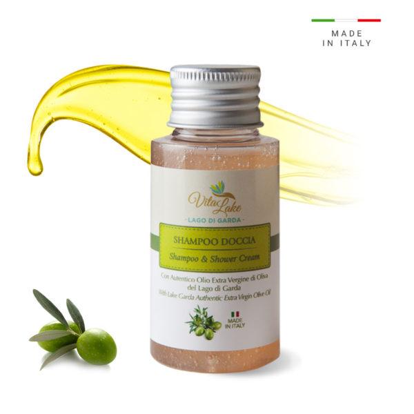 vitalake - cosmetica naturale - lineaolio d'oliva evo: shampoo doccia