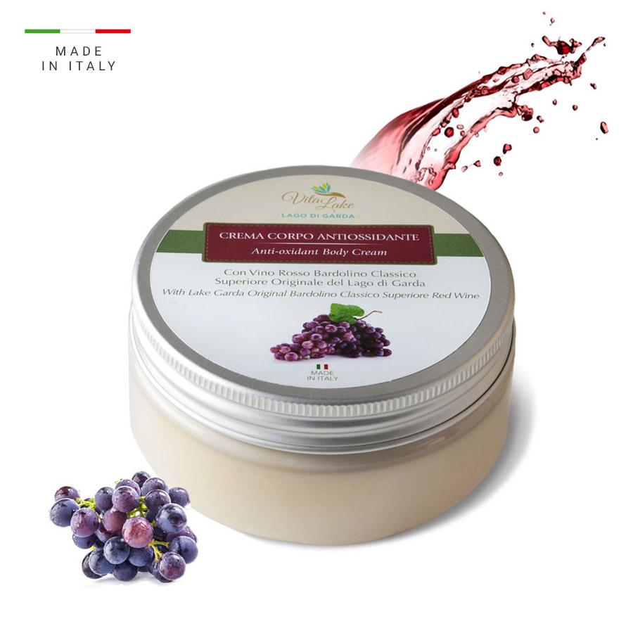 vitalake - cosmetica naturale - linea vino Bardolino: crema corpo