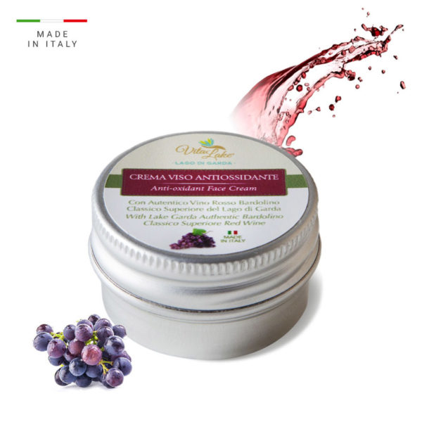 vitalake - cosmetica naturale - linea vino Bardolino: crema viso da viaggio