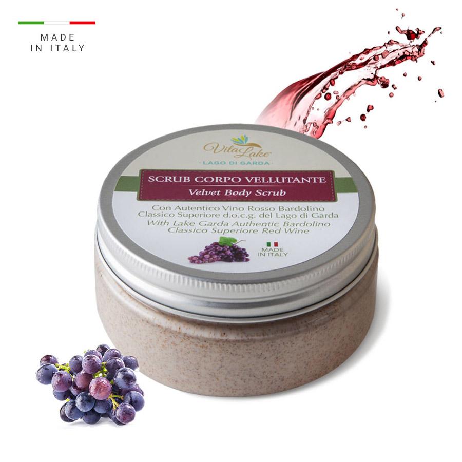 vitalake - cosmetica naturale - linea vino Bardolino: scrub corpo