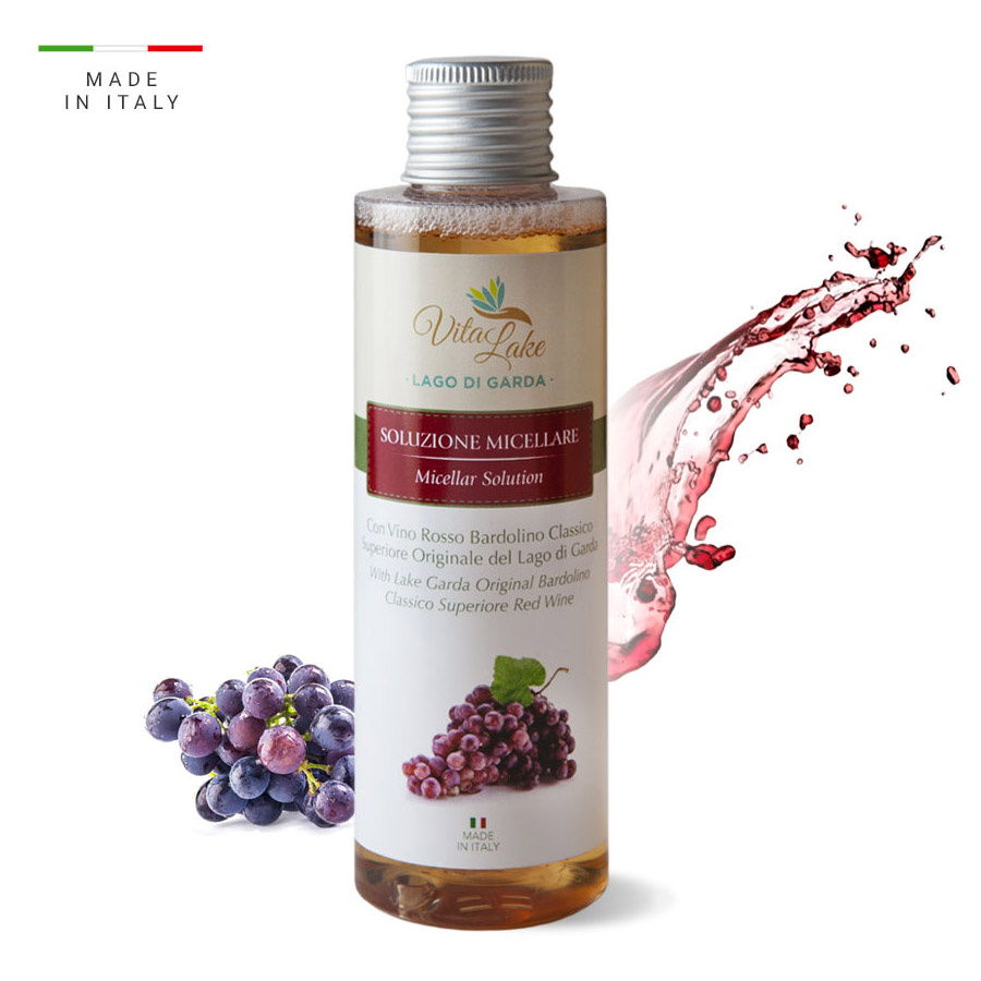 vitalake - cosmetica naturale - linea vino Bardolino: soluzione micellare