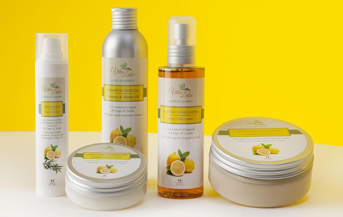 Vitalake-cosmesi naturale line limone della riviera dal lago di Garda